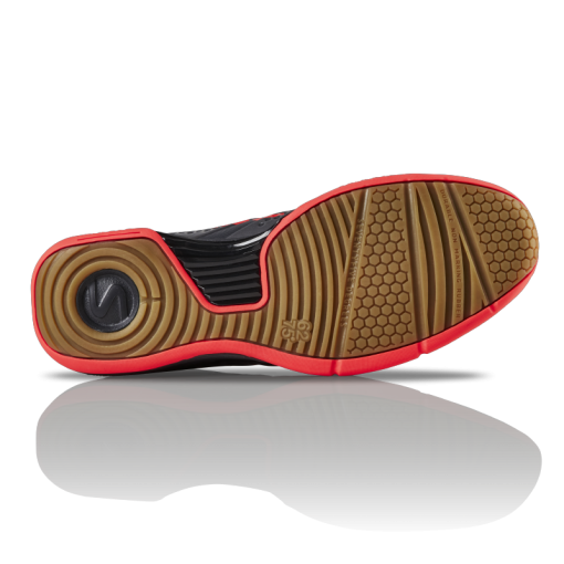 Salming Viper 5 Shoe Men Gun Metal / New Flame Red